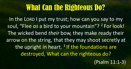 What Can the Righteous Do2