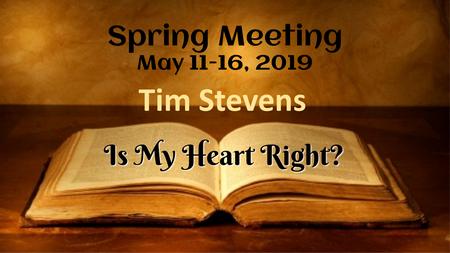 Spring Meeting 2019